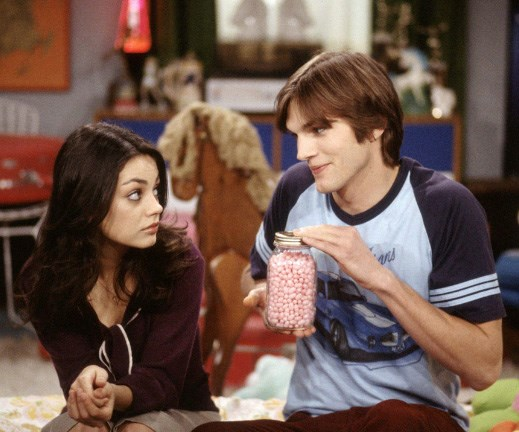 Mila and Ashton in That 70's Show
