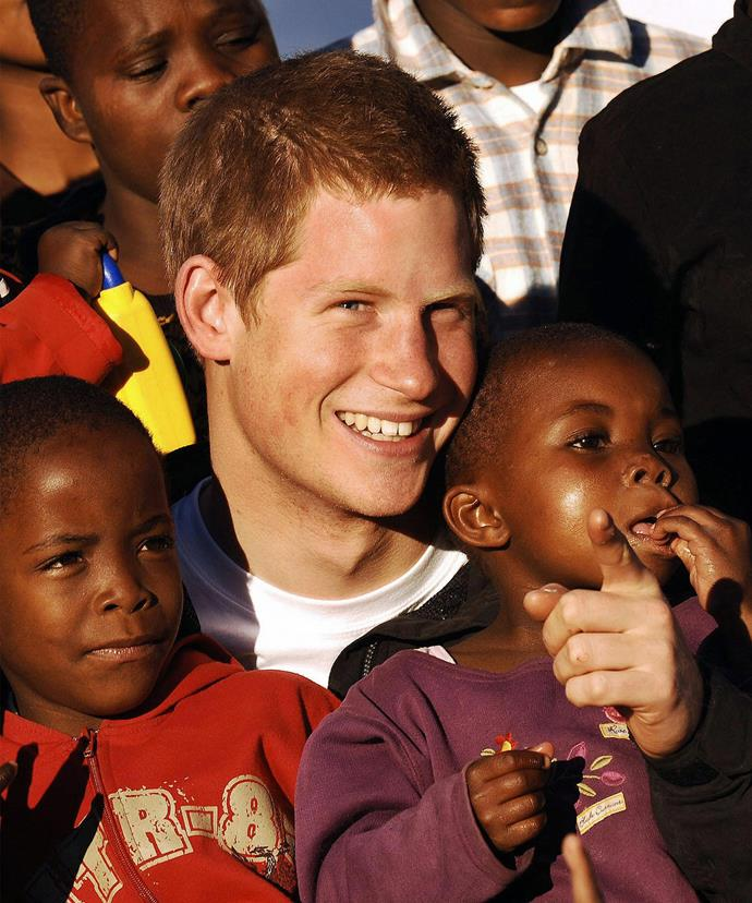 In 2006, Prince Harry was a hit with the kids as he visited a children's home in Lesotho in Southern Africa.