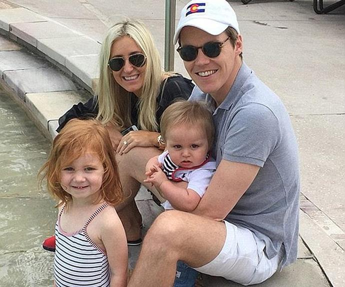 Roxy Jacenko and Oliver Curtis with the kids before his prison sentence.