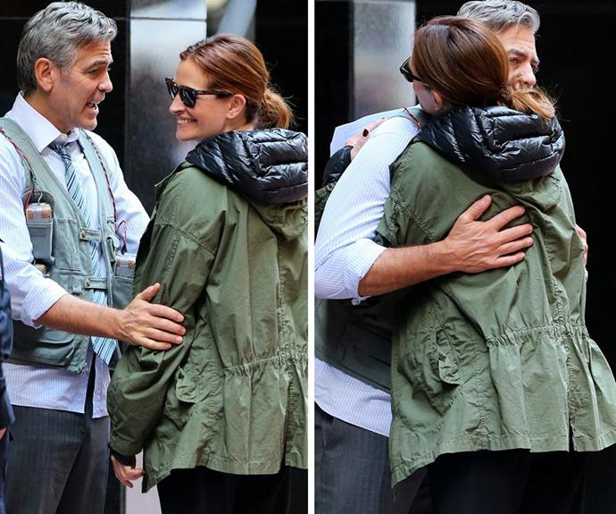 """The *Money Monster* co-stars have known each other since starring in 2001 *Ocean's Eleven* and they've been close friends ever since. """"What a relief we're not Hollywood friends,"""" Julia said in Cannes. """"I just said to him an hour ago, 'Thank God we really do like each other, or we'd be in hell.'"""""""