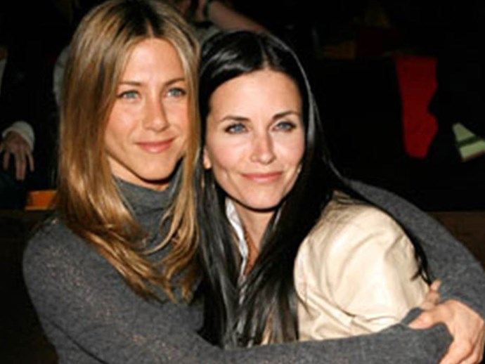 """These *Friends* co-stars are exactly that. Jen has talked about sleeping in Courteney's guest bedroom while times were tough and praised her friend for being """"extremely fair, ridiculously loyal and fiercely loving"""". The love is clearly returned, with Courteney appointing Jen as godmother to daughter Coco."""