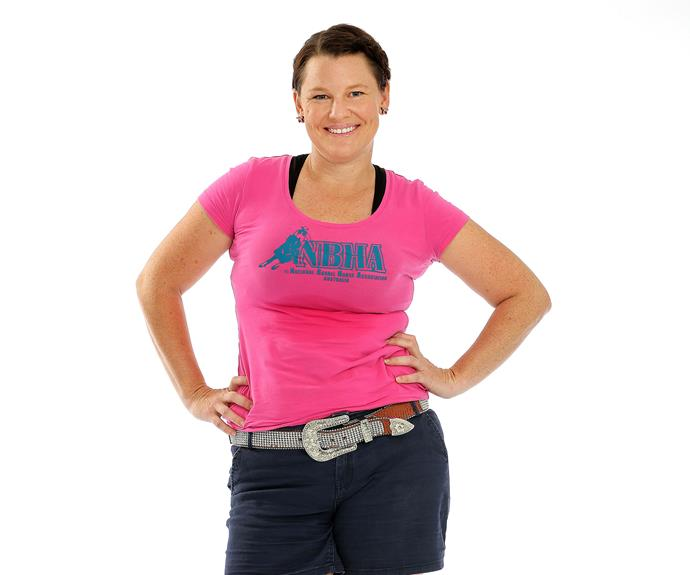 **Tara, 32, Barrel Racer, Queensland:** Mum of three Tara is a barrel racer from Queensland. The job requires serious manoeuvring and concentration and is something she plans to keep a secret from her fellow contestants. Currently studying full-time for a Bachelor of Education majoring in Drama and History, Tara wants to prove that she is much more than just a stay-at-home mum.