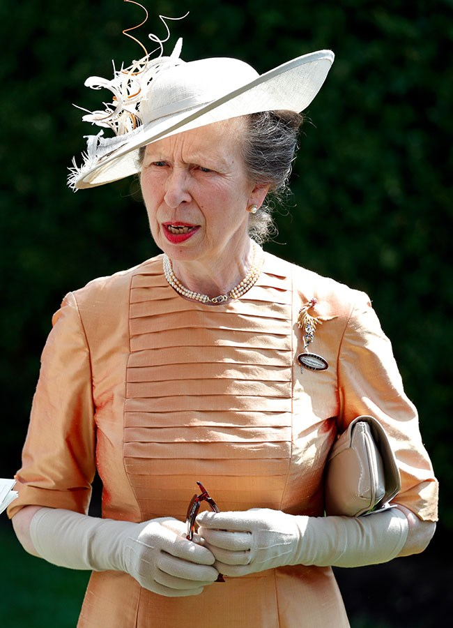 **22. Princess Anne.** She attended three days of the event, wearing peaches and cream on day one.