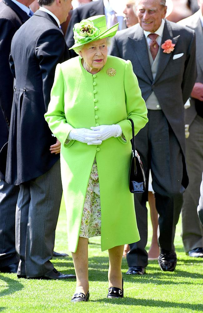**21. Queen Elizabeth.** The Queen was present for all five days of Royal Ascot, starting off her first day on a bright note in lime green.