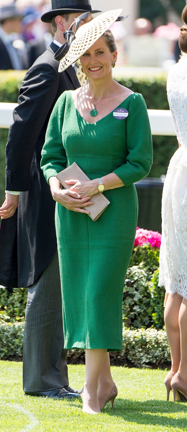 "**17. Sophie, Countess of Wessex.** This chic green dress was memorable, but not as memorable as her clumsy moment in it, [a close save thanks to the Duchess of Cambridge](http://www.nowtolove.com.au/royals/british-royal-family/duke-and-duchess-of-cambridge-attend-royal-ascot-2017-38430|target=""_blank"")."