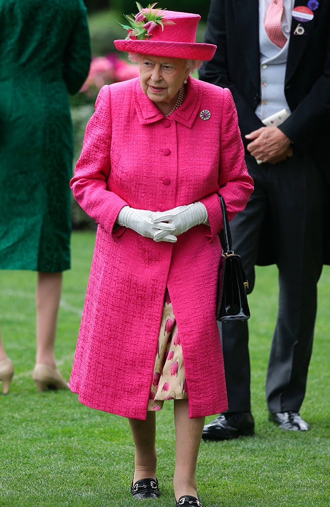 **15. Queen Elizabeth.** Day three was all about fuchsia for the stylish monarch. Love.