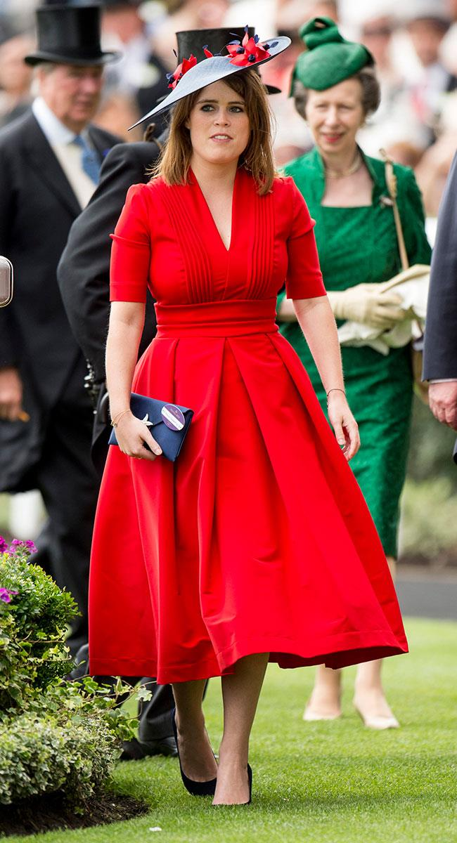 **14. Princess Eugenie.** The princess went for red and black on day three.