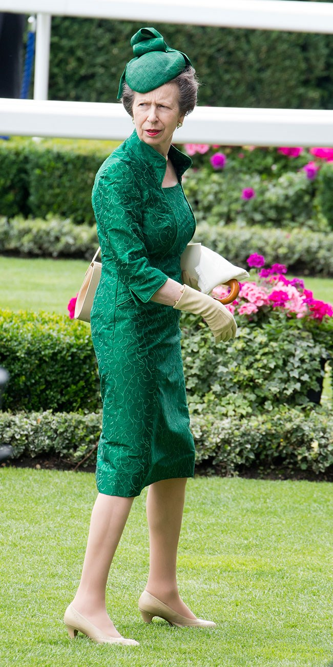**13. Princess Anne.** Her final look was green and classic.