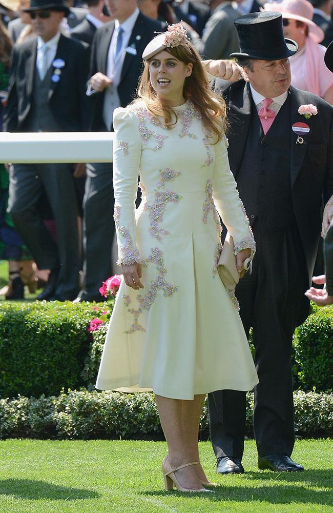 **4. Princess Beatrice.** Seriously, did a prettier coat ever exist? This embellished number is certainly fit for a princess.