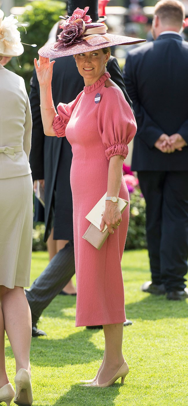 **3. Sophie, Countess of Wessex.** Her pretty in pink look for day two was the perfect balance between classic and modern. And that hat - just wow!