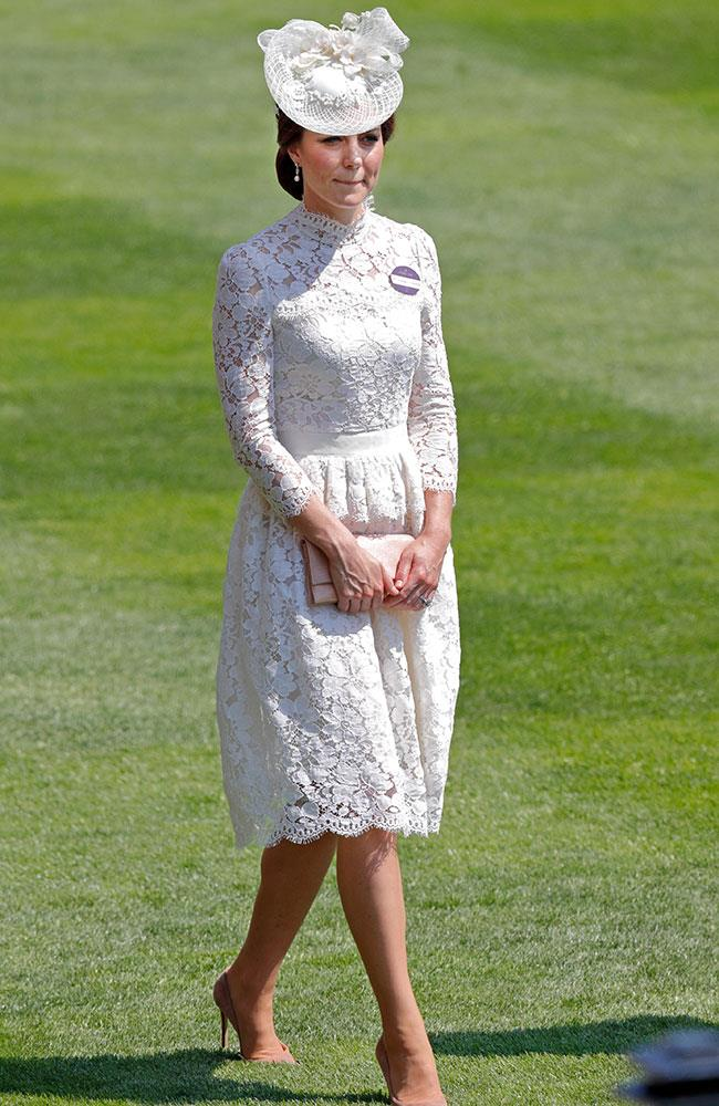 "This is the second time Kate has attended the event since joining the royal family. She made her debut last year in a strikingly similar [white cocktail dress designed by Dolce & Gabbana](http://www.harpersbazaar.com.au/celebrity/best-royal-moments-of-2016-12325|target=""_blank"")."