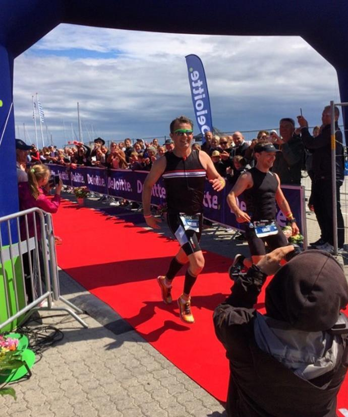 Fred completes a Triathlon at the impressive time of 5:16.