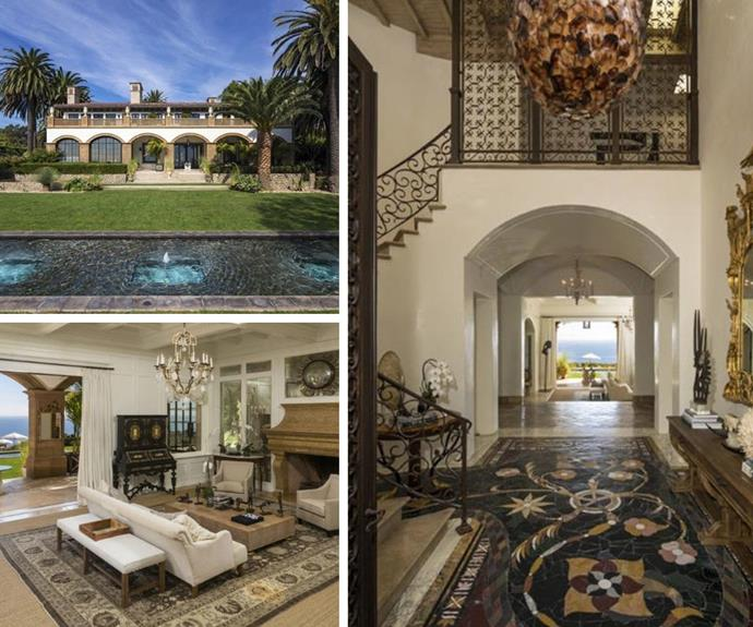 The home boasts 10 bedrooms, 14 bathrooms, and a host of luxurious features.
