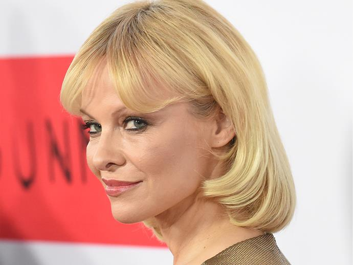 **2015:** The pixie cut turned into a short bob complete with fringe a year later to the point where she was almost unrecognisable. The fake lashes were left in the makeup drawer and the eye shadow considerably toned down... well, for Pamela.