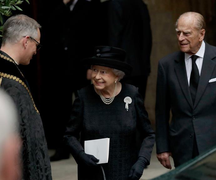 Queen Elizabeth funeral Countess Mountbatten of Burma ...