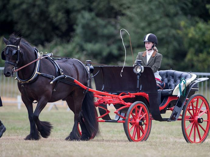 The young royal has taken after her grandfather, Prince Philip, who picked up the sport after quitting playing polo at age 50.
