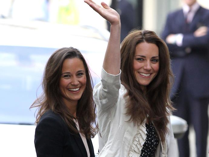 The Duchess was joined by her sister Pippa Middleton at the Goring Hotel the night before the Royal Wedding.