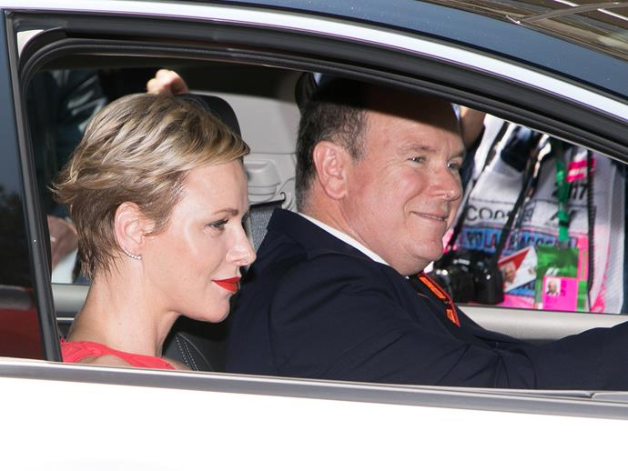 The Monaco royals are regular attendees of the Monaco Grand Prix.