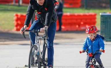 Hamish Blake teaches Sonny how to ride a bike and the cuteness is next level