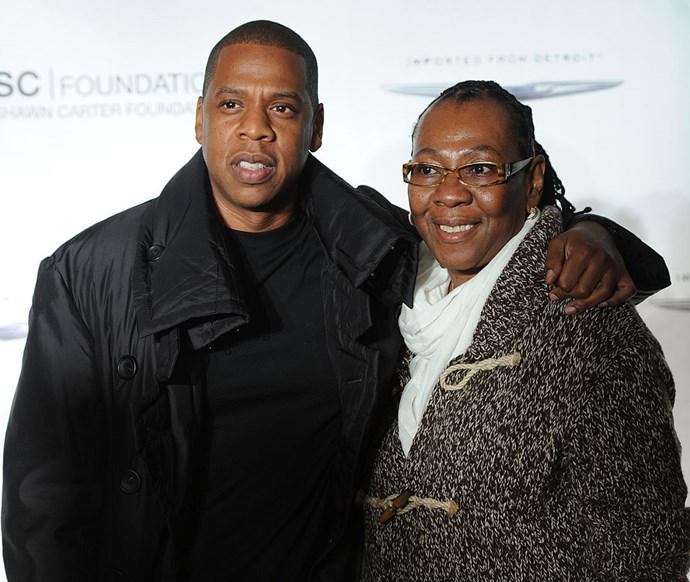 Jay-Z and his mum, Gloria.