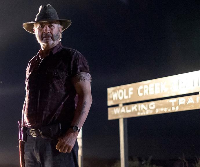 John Jarratt as Mick Taylor in *Wolf Creek*.