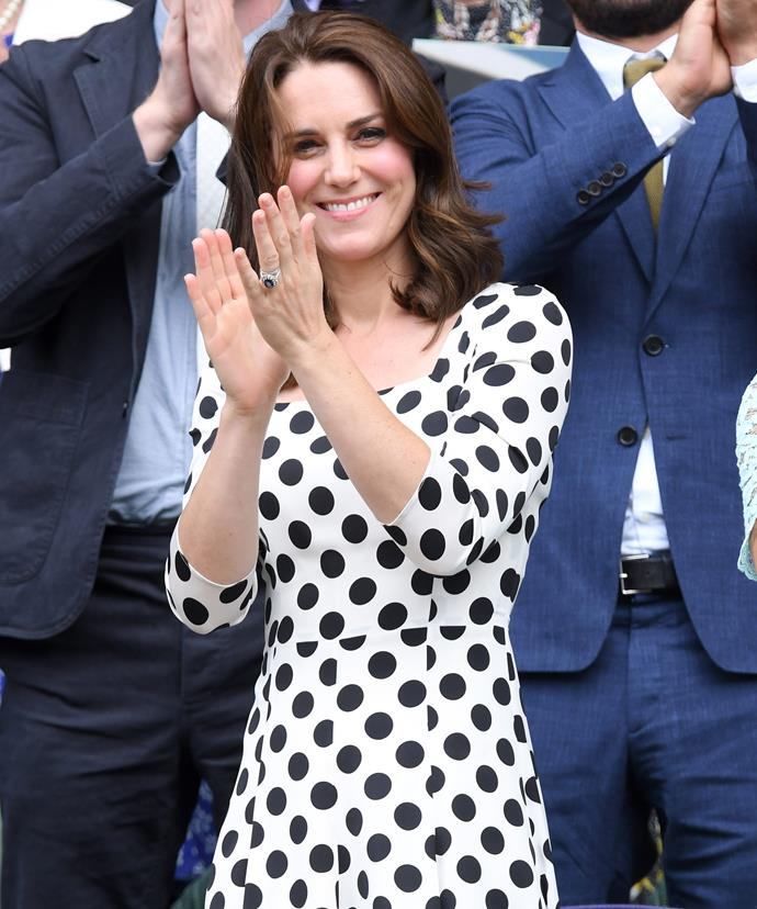 Kate attended day one of the event where she saw Andy Murray defeat Russian Alexander Bublik.
