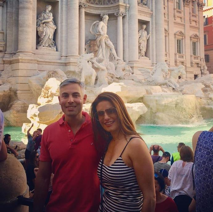 Ada and her brother Costa visit the The Trevi Fountain in Rome.