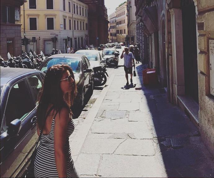 Ada explores the streets of Italy.