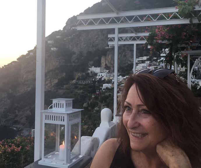 Lynne enjoys the views of Positano.