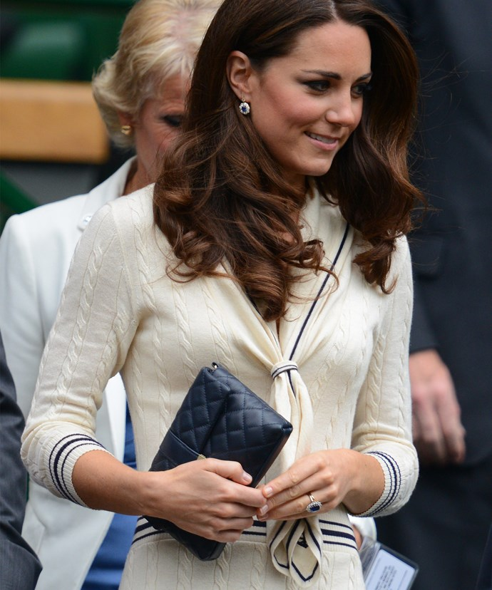 Kate, pictured in 2012, may think Wimbledon is a quintessential part of the English summer... But the Duchess is a quintessential part of the tennis competition!