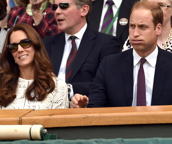 The Duke and Duchess sure know how to give good face. Here they are looking perplexed in 2014.