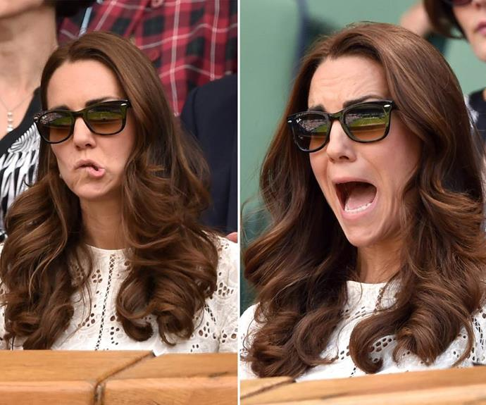 While many may focus on the on match... The future Queen gives us giggles in spades with her hilarious expressions.