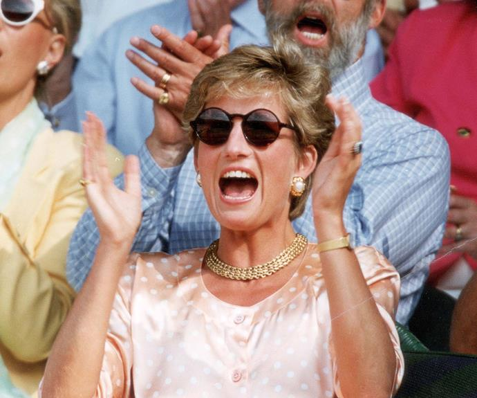 Princess Diana was a vision back in 1993 where she saw Pete Sampras take out the title.