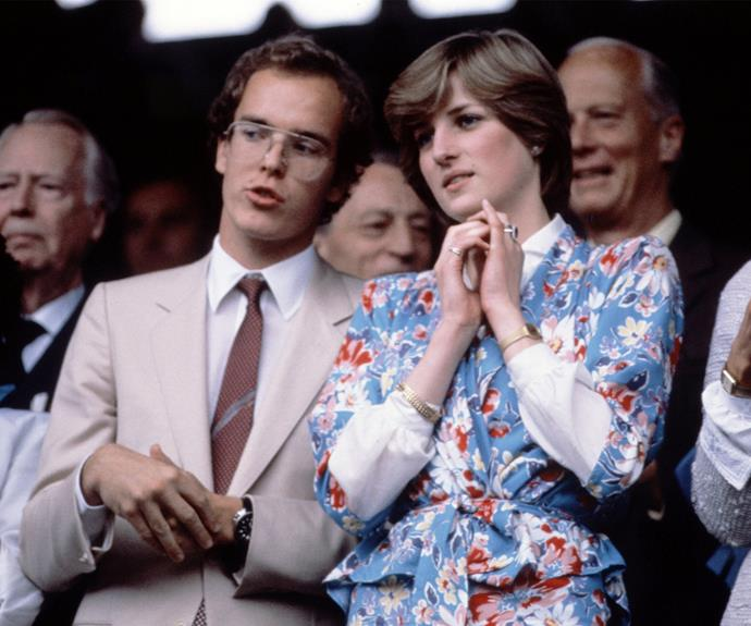 Prince Albert of Monaco and Lady Diana Spencer in 1981.