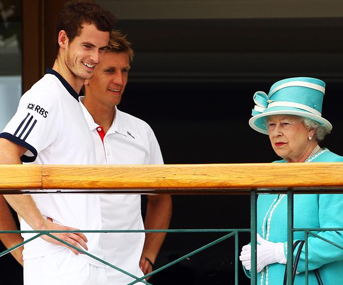 Her Majesty doesn't seem that fussed over Andy Murray...