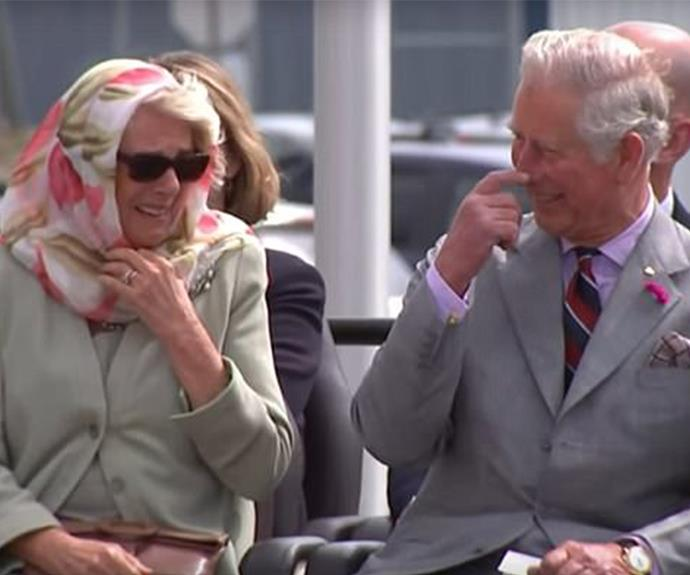 Duchess Camilla and Prince Charles were very entertained by the performance.