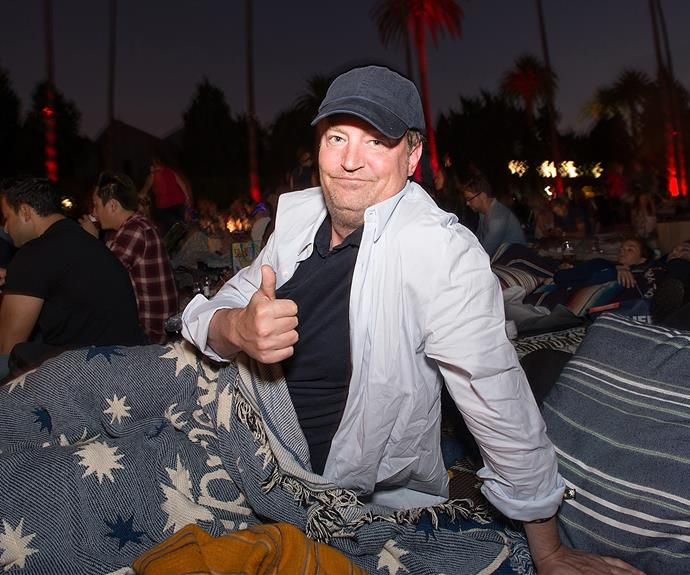 Matthew Perry looked ready for a cosy night at the 4th of July celebrations.