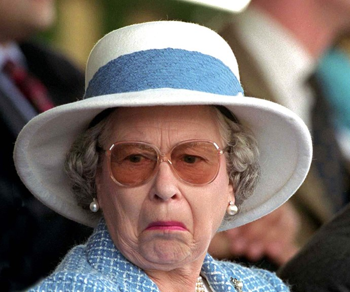 But not all hats bring joy, right Your Majesty?