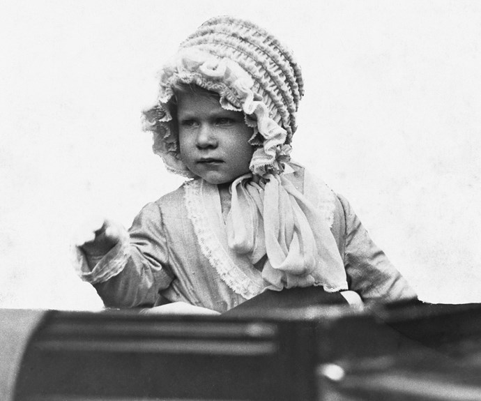 The Queen's love of a good bonnet started from an early age...