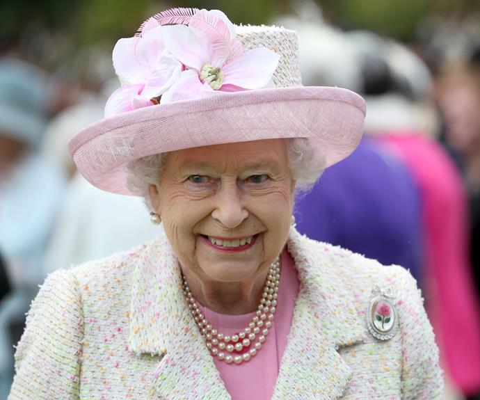 Her Majesty stunned in this floral ensemble.