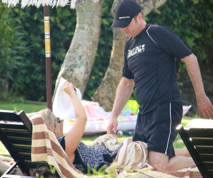 This marks Fifi and Damien's first family holiday together.