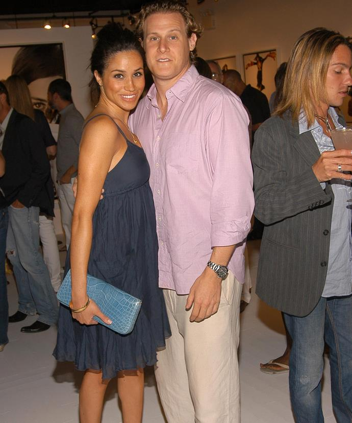 Meghan and her first husband Trevor Engelson reportedly supplied marijuana to their wedding guests. *(Image: Getty Images)*