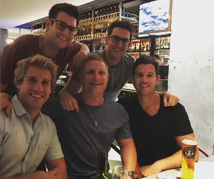It looks like multiple bromances have blossomed!