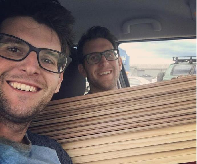 Andrew and Jonno shared this snap on social media along with their thanks to all of the *House Rules* producers, tradies and fans. Farewell boys!