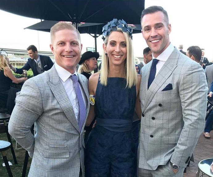 Aaron and Daniella hang out with Kris Smith at the races!