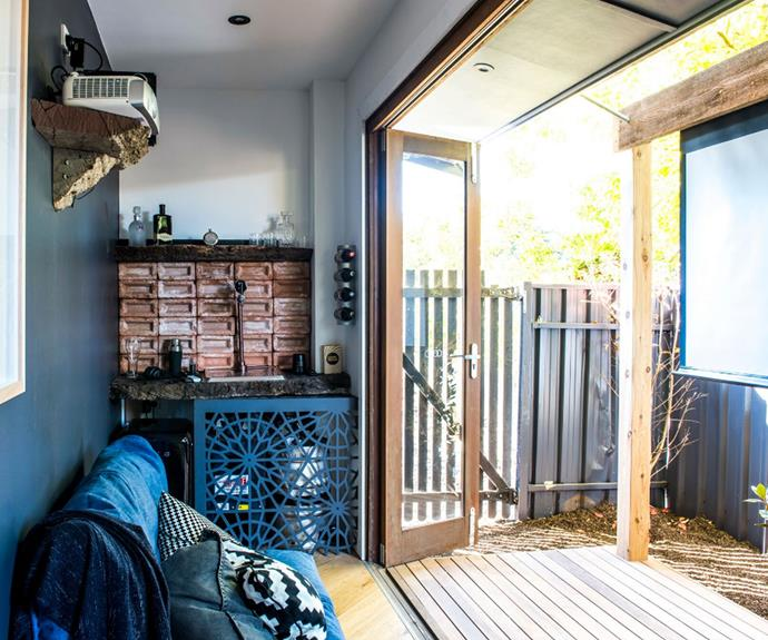 "**Kate and Harry's outdoor area:** The judges thought Aaron and Daniella created a ""clever"" and ""indulgent"" man-cave in a tight and tricky space."