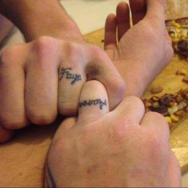 They got matching ring tattoos