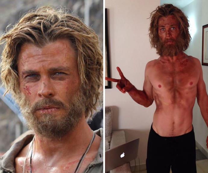 """**The Heart Of The Sea:** He underwent a dramatic transformation for the role, taking to Instagram to post a shot of his dramatic weight loss. """"Just tried a new diet/training program called """"Lost At Sea"""". Wouldn't recommend it,"""" he wrote."""