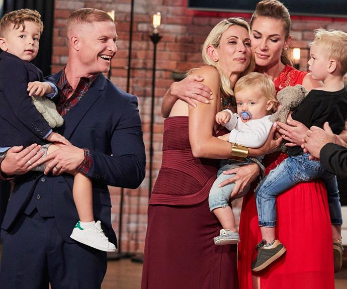Winner winner chicken dinner! The talented duo with their two young sons Jackson and Brooklyn, and runner-up Kate and her son Xavier.