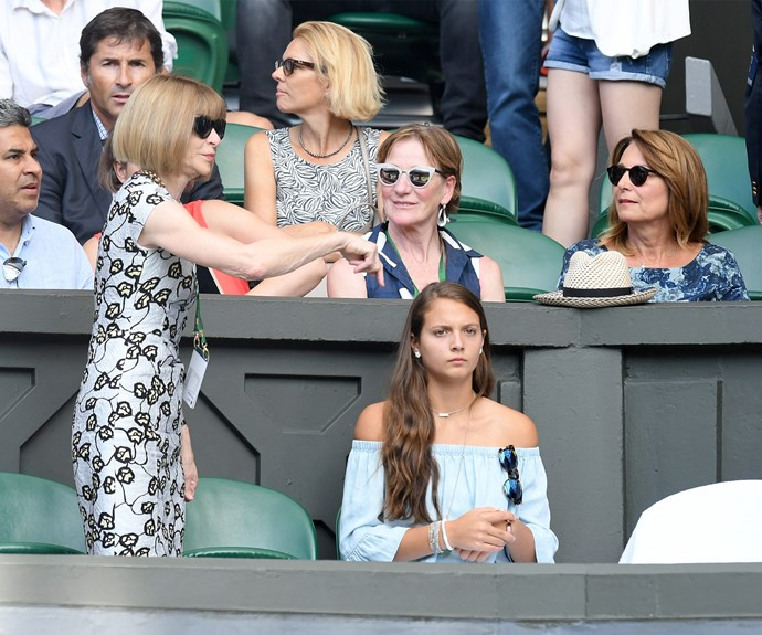 Anna Wintour made the cute for the royal box.